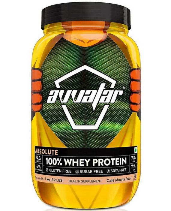 Avvatar Absolute 100% Whey Protein Cafe mocha swirl
