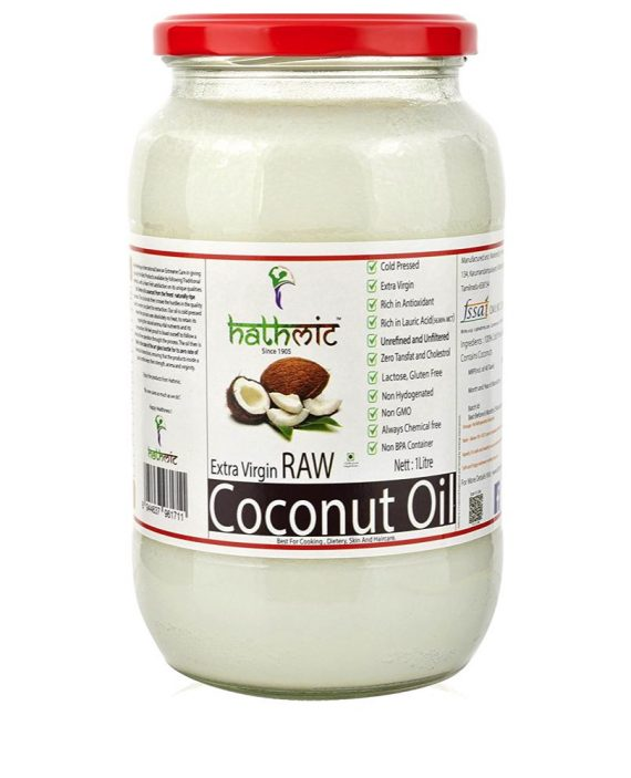 Hathmic Extra Virgin Cold Pressed Coconut Oil-1 litre
